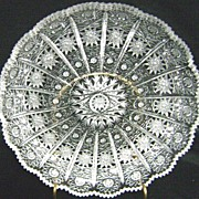 Beautiful American Brilliant Cut Glass Round Tray