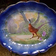 Flow Blow Limoges China Pheasant Serving Platter