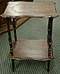 Carved Antique Rosewood Lamp Occasional Table Two Tier