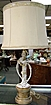 Lovely Mid Century Love Bird Lamp with Shade & Finial
