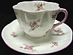 Shelley Fine China Cup & Saucer Bridal Rose Fluted