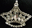 Marvelous Vintage Rhinestone Crown Brooch Pin