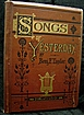 1875 Songs of Yesterday by Benjamin F. Taylor