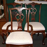 Lexington Walnut Dining Room Chairs Set of Six