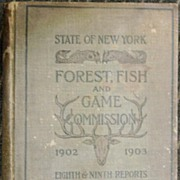 1902-3 New York State Forest, Fish & Game Commission Reports