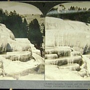 Yellowstone Cleopatra Terrace Keystone Stereoview