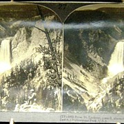 Stereoview Lower Falls Yellowstone National Park Keystone
