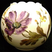 Antique Carlsbad Hand Decorated Rose Bowl Austrian
