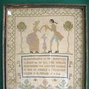 1929 Sampler Remembrance Is the Sweetest Flower