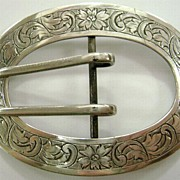 Wonderful Ornate Sterling Silver Western Buckle S. Cottle