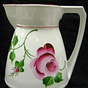 Lovely Hand Painted Roses Leuchtenburg Porcelain Pitcher