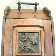 Victorian Carved Coal Box Scuttle