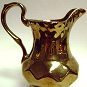 "Wade Royal Victoria Copper Lustreware Pitcher Creamer 5"" 1950's"