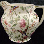 Chintz Milk Pitcher Royal Tudor Ware Barker Bros Butterfly & Floral