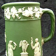 Wedgwood Jasperware Pitcher Olive Green