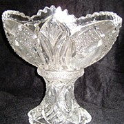 "Wonderful Cambridge ""Near Cut"" Glass Advertising Punch Bowl St. Louis Coffin"