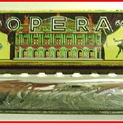 U.S. Zone Germany Opera Harmonica w/ Lithographed Tin Box