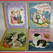 Little Golden Books ALL with Original DUST JACKETS Lot of 4 (Four)