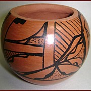 Chinana Jemez Pueblo Pottery Bowl Pot