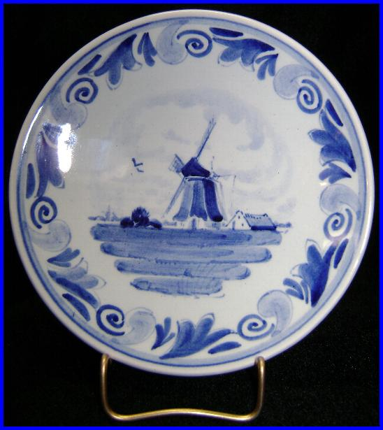 Delft Schoonhoven Plate Water Farm Windmill Wall Hanging Hand Painted