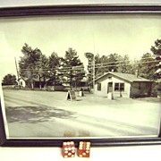 Hot Springs Arkansas Illegal Gambling Dice & Original Photo SUNSET