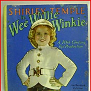 1937 Shirley Temple WEE WILLIE WINKIE Movie Storybook
