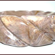 Vintage Austrian Marbleized Plastic Bangle Bracelet Retro