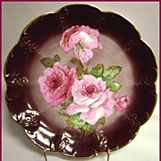 Carl Tielsch Hand Painted Roses Plate Beautifully Decorated Charger