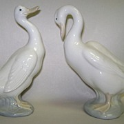SOLD Lladro Duck Duck Goose Goose Discontinued