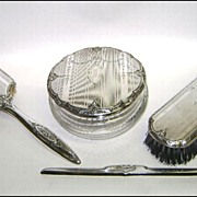 Sterling Silver Dresser Set R. Wallace