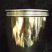 JFK, Jr Sterling Mint Julep Cup Lemon & Son Louisville