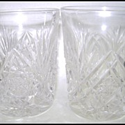 Hawkes American Brilliant Diamond Fan Juice Tumbler