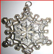 1971 Gorham Sterling Christmas Ornament Snowflake