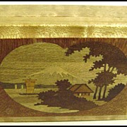 Lovely Vintage Japanese Landscape Inlaid Trinket Box