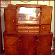 Art Deco Oak Buffet Cabinet Sideboard