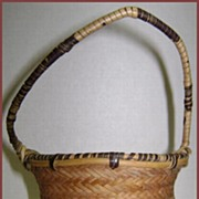 Wonderful Antique Hand Woven Miniature Burden Basket