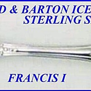 Sterling Ice Cream Fork Reed & Barton Francis I