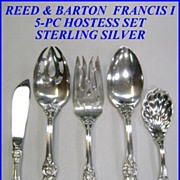 Reed & Barton Francis I Sterling Silver 5-pc Hostess Set