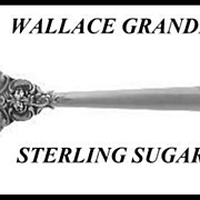 Wallace Grande Baroque Sterling Silver Sugar Spoon