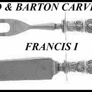 Francis I Carving Set Reed & Barton Sterling Handles