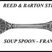 Francis I Sterling Soup Spoon Reed & Barton 5-7/8""