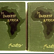 In Darkest Africa by Henry M. Stanley 2 Vol 1890