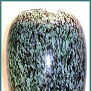 Gorgeous Venetian Art Glass Vase Teal & Black