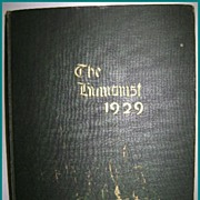 1929 Yearbook Annual Memorial High School West New York, NJ