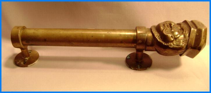 Vintage Steamer Salvage Brass Captains Head Door Pull