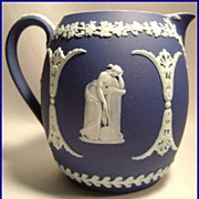Lovely Wedgwood Cobalt Pitcher Jasperware 4""