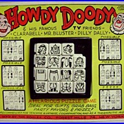 Howdy Doody Slider Tray Puzzle on Store Card