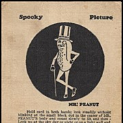 Early Mr. Peanut Spooky Picture Premium