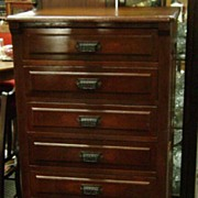 Early American Walnut Lingerie Chest Cabinet