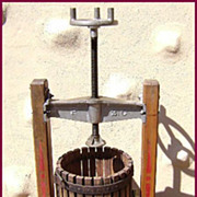 Fine Decorated Old Wine Grape Press